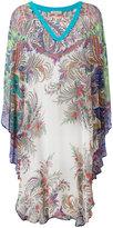 Etro v-neck printed tunic - women - Viscose - M