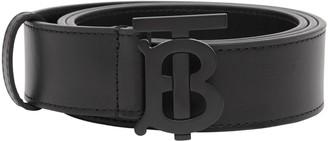 Burberry TB Monogram Leather Belt