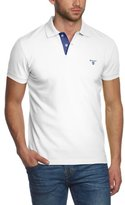 Gant Men's Contrast Color Pique Short Sleeve Polo Shirt,