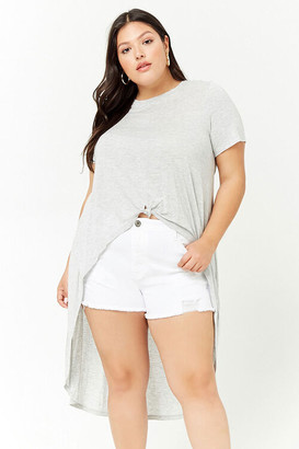 Forever 21 Plus Size Knotted High-Low Tee