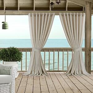 Elrene Home Fashions Carmen Sheer Indoor/Outdoor Tieback Curtain Panel, 114 x 108
