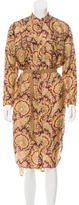 Zimmermann Paisley Print Silk Dress