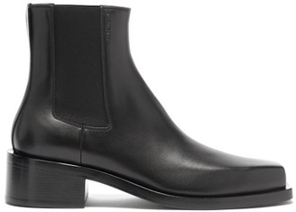 Givenchy Austin Square-toe Leather Chelsea Boots - Black