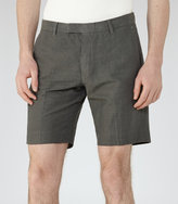 Reiss Reiss Valley - Linen And Cotton Shorts In Brown