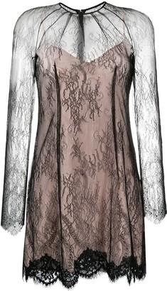 Blumarine Long-Sleeved Lace Mini Dress