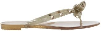 Valentino Rockstud Jelly Bow Sandals