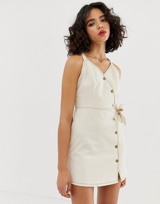 Moon River cami dress with button detail
