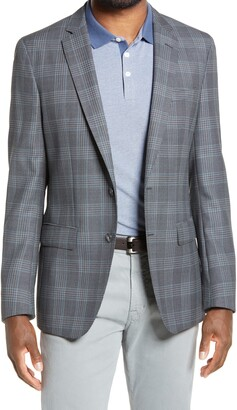 HUGO BOSS Hartlay Slim Fit Plaid Wool Sport Coat