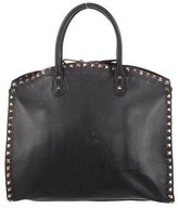 Valentino Rockstud Leather Dome Satchel