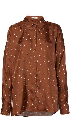 Tibi Ant Polka Dot Silk Blouse