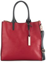 Neiman Marcus Citi Faux-Leather Tote Bag with Stingray Handles, Berry
