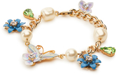 Dolce & Gabbana Hydrangea and butterfly-embellished bracelet