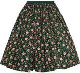 Ashish Embellished Embroidered Cotton Midi Skirt - Emerald