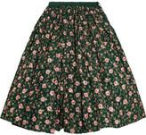 Ashish Embellished Embroidered Cotton Midi Skirt - Emerald