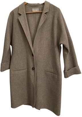 Dusan Ecru Wool Coat for Women