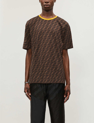 Fendi Logo-print crewneck cotton-jersey T-shirt