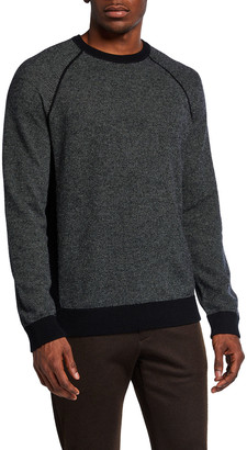 Vince Men's Birdseye Crewneck Pullover Sweater