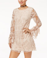 Trixxi Sequined Lace Shift Dress