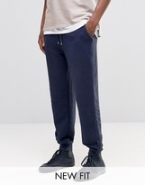 Asos Standard Joggers In Reverse Loopback With Taping