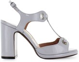 L'Autre Chose Lautre Chose Light Grey Patent Leather Sandal