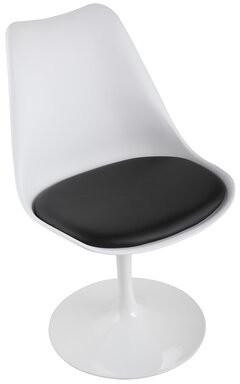 Swivel Tulip Guest Chair JAXSUNNY Seat Color: Black