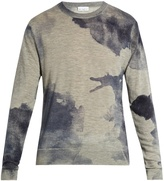 Raey Watercolour-print cashmere sweater
