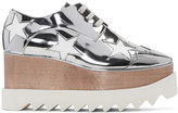 Stella McCartney Silver Star Platform Elyse Derbys