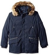 Nautica Men's Biblend Parka with Faux Fur Jacket