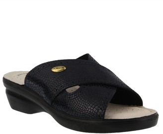 Spring Step Flexus by Suede Slide Sandals - Aikora