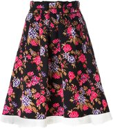 MSGM floral tapestry skirt - women - Polyamide - M