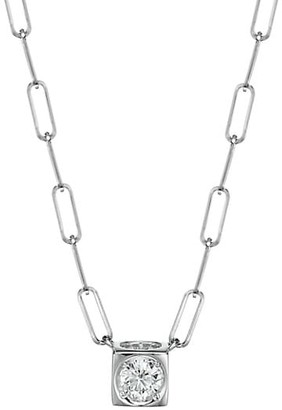 Dinh Van Le Cube 18K White Gold & Diamond Pendant Necklace