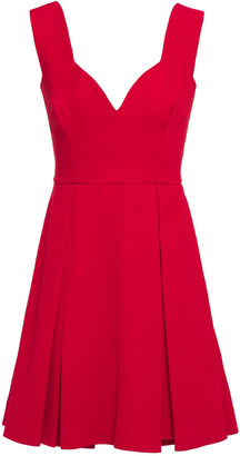 Emilia Wickstead Riona Pleated Crepe Mini Dress