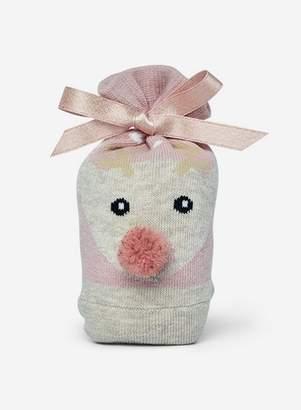 Dorothy Perkins Womens Beige Reindeer Sock In A Bag
