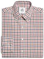 Brooks Brothers Red Navy and White Check Button-Down Shirt