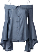 G.V.G.V. denim off-shoulders blouse