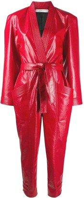Philosophy di Lorenzo Serafini Faux Leather Wet Look Jumpsuit