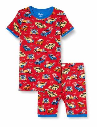 Hatley Boy's Organic Cotton Short Sleeve Printed Pyjama Sets