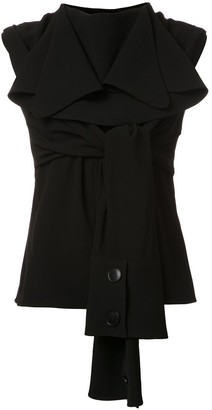 J.W.Anderson Deconstructed Tie-Front Blouse