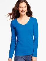 Talbots Pima Cotton Long-Sleeve V-Neck-The Tee