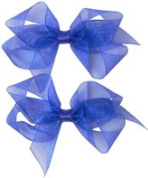 Bows Arts Diamond Dust Organdy Bows (Toddler) - Royal - One Size