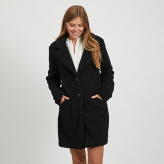 Vila Straight Mid-Length Coat with Button Fastening