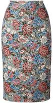 Ermanno Scervino floral jacquard pencil skirt - women - Polyester/Acrylic/Cotton/other fibers - 40