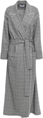 Racil Windsor Belted Checked Wool Coat