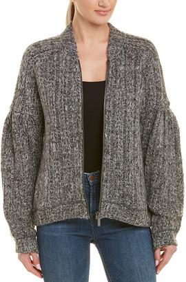 Three Dots Melange Heavy Sweater Jacket