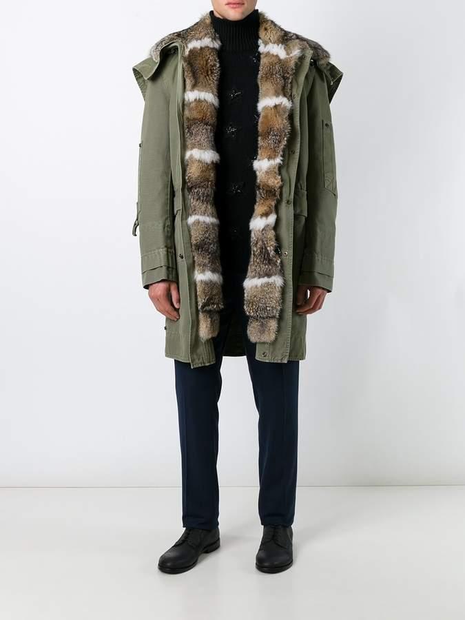 Ermanno Scervino hooded mid coat