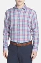 Robert Talbott Men's 'Crespi Ii' Classic Fit Plaid Linen Sport Shirt