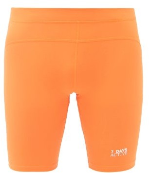 7 Days Active - Sprinter Logo-printed Shorts - Orange
