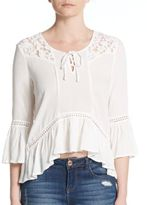 Romeo & Juliet Couture Lace-Trim Blouse
