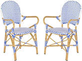One Kings Lane Blue Odeon Bistro Armchairs - Set of 2