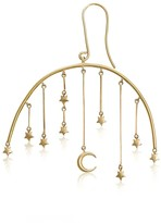 To The Moon & Back - 18Ct Gold Moon & Stars Large Drop Earrings